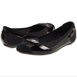 Black Puma Flats